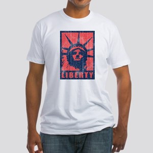 Liberty [Red&Blue] Fitted T-Shirt